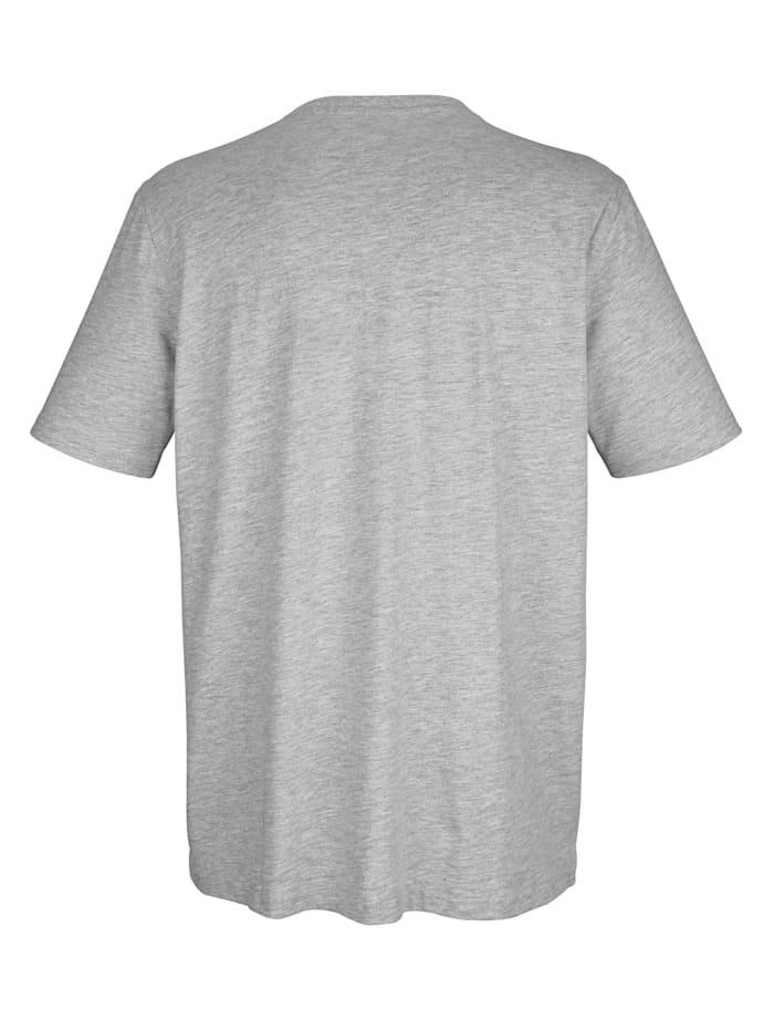 T-shirt med knappslå