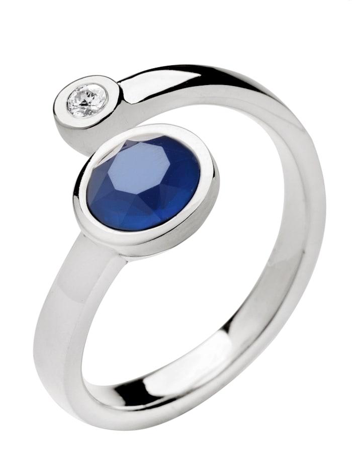 Yvette Ries Damenring mit Swarovski Kristall 597042308716, Blau