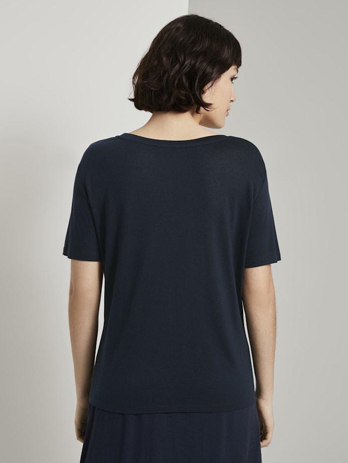 Schlichtes T-Shirt aus Lyocell