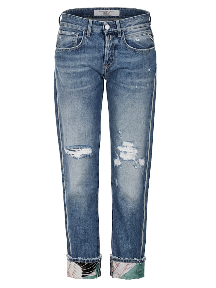 REPLAY Jeans Boyfriend, Blau