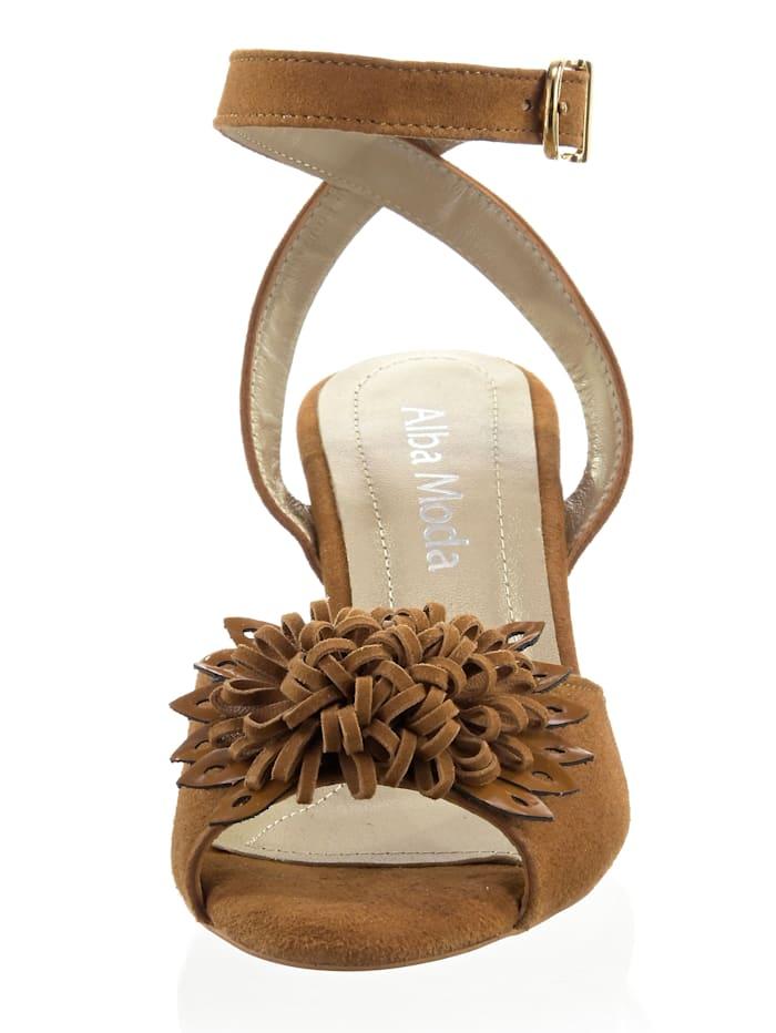 Sandalette aus weichem Ziegenveloursleder