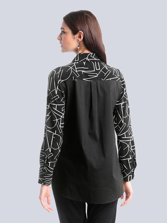 Bluse mit schönem Buchstaben-Print