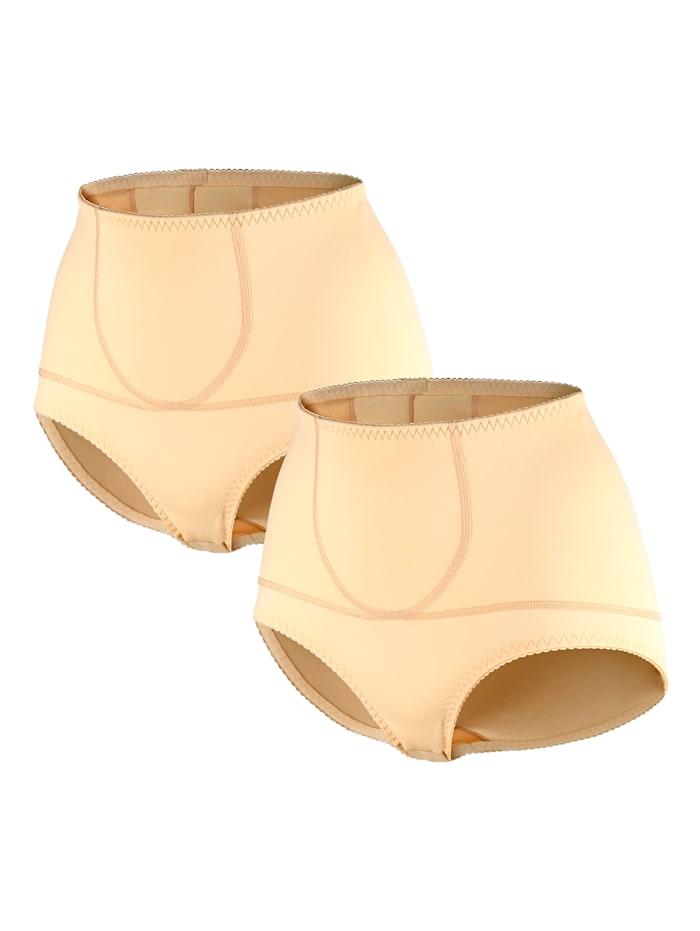 Harmony Culottes gainantes par lot de 2 à ceinture gainante intégrée, Sable