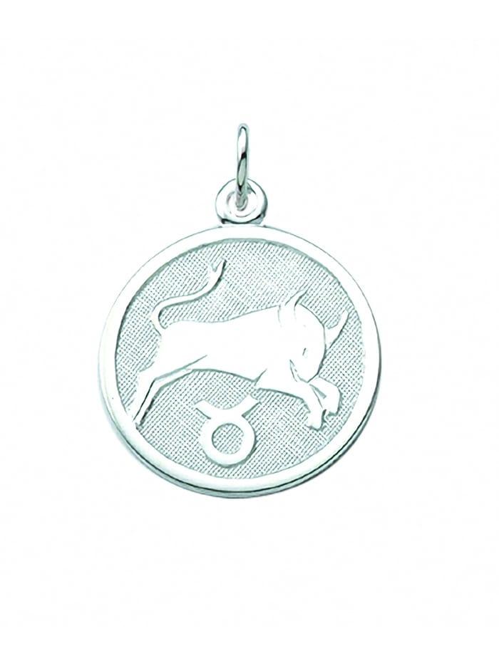 1001 Diamonds Damen & Herren Silberschmuck 925 Silber Sternzeichen Anhänger Stier Ø 15,7 mm, silber