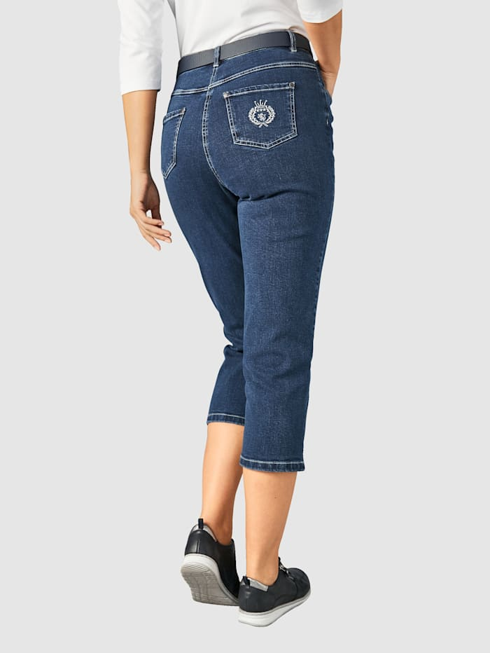 Paola Cropped trousers Comfortable fit, Blue