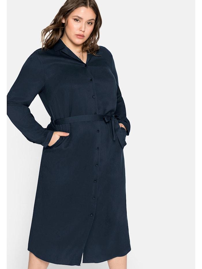 Sheego Sheego Hemdblusenkleid mit Reverskragen, nachtblau