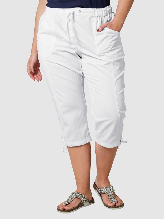 Janet & Joyce Caprihose aus Baumwolle, Weiß
