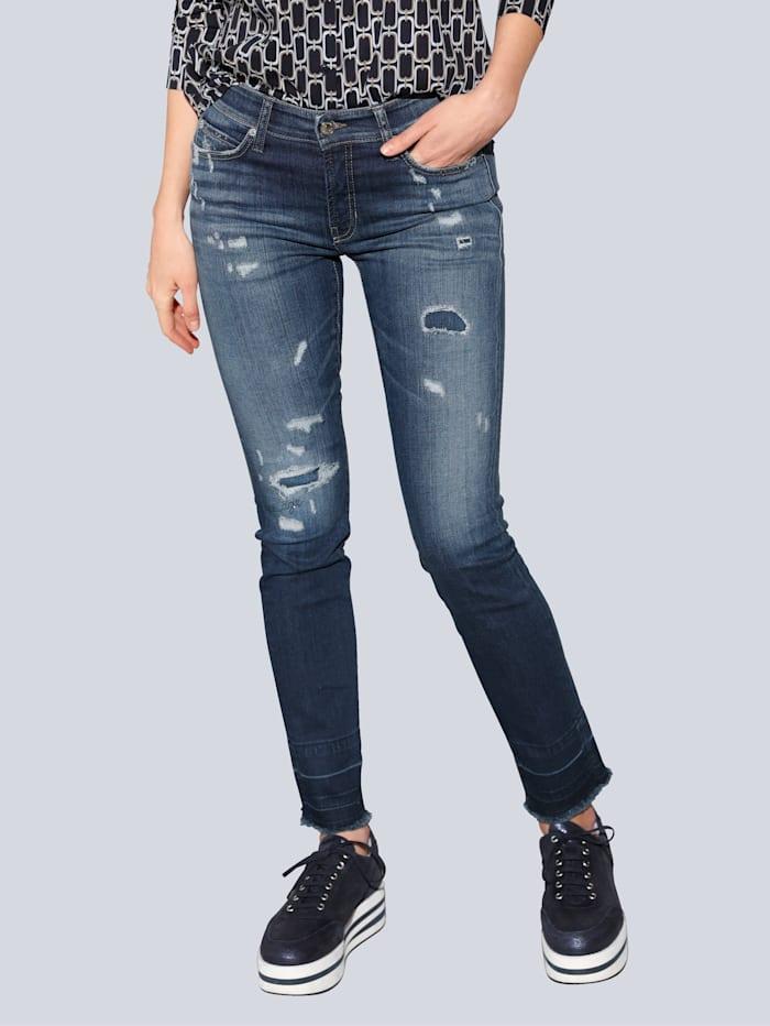 CAMBIO Jeans mit Destroyed-Effekten, Blue stone