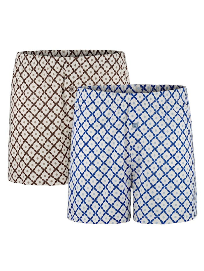 BABISTA Boxershorts aus merzerisierter Baumwolle, Blau/Braun