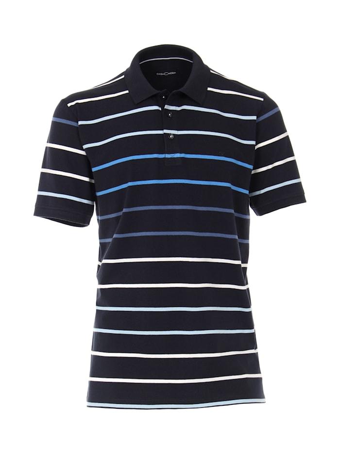 CASAMODA Polo-Shirt andere Muster, Mittelblau