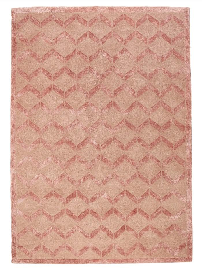 Webschatz Handtuftteppich 'Gent', Rosa