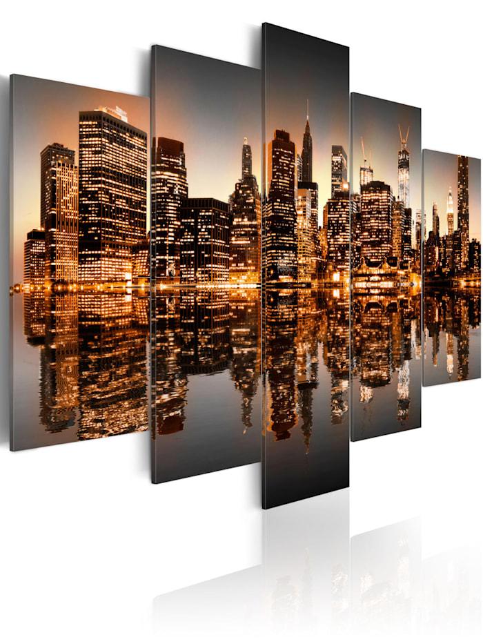 artgeist Wandbild New York, orange,black,grey