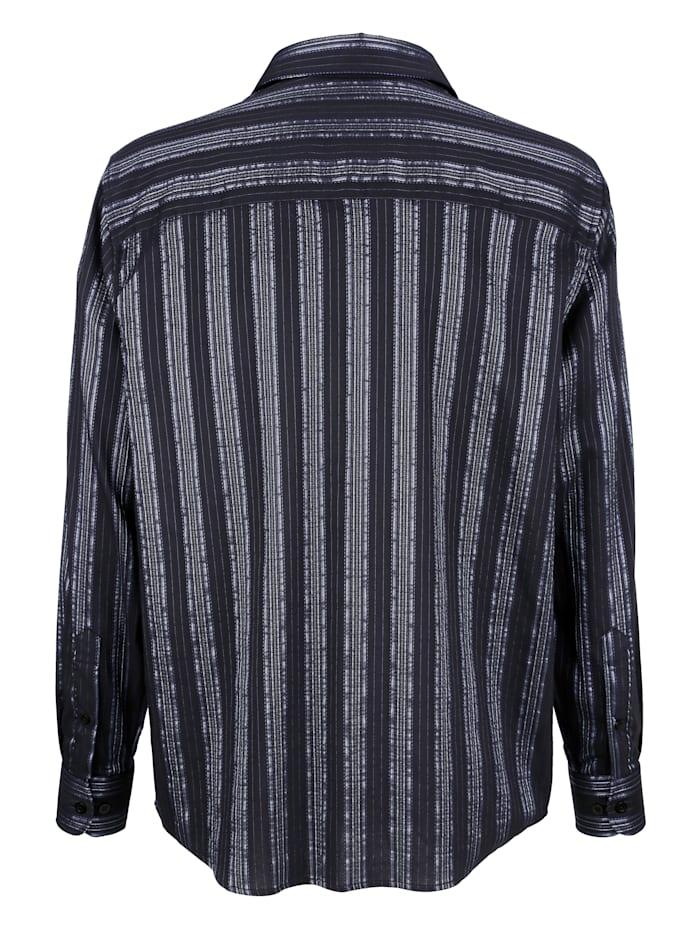 Skjorta med glansiga ränder