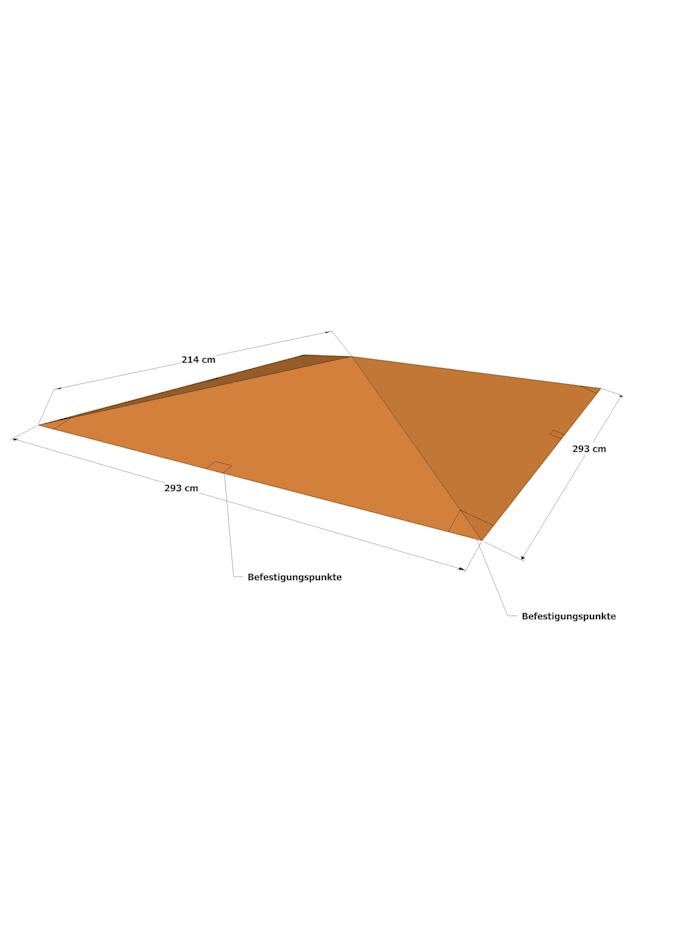 Universal Ersatzdach 293 x 293 cm  Polyester Terra mit UV Schutz,  wasserabweisend