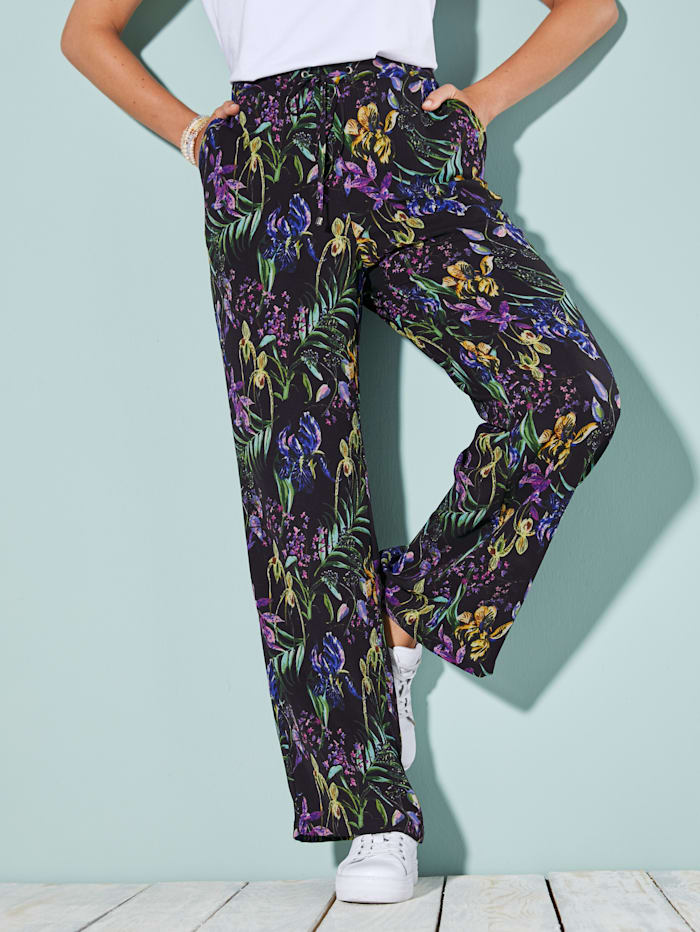 MIAMODA Hose in leichter Strukturqualität, Multicolor