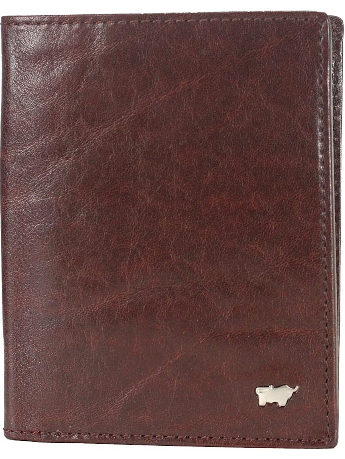 Braun Büffel Basic Geldbörse Leder 10 cm, palisandro