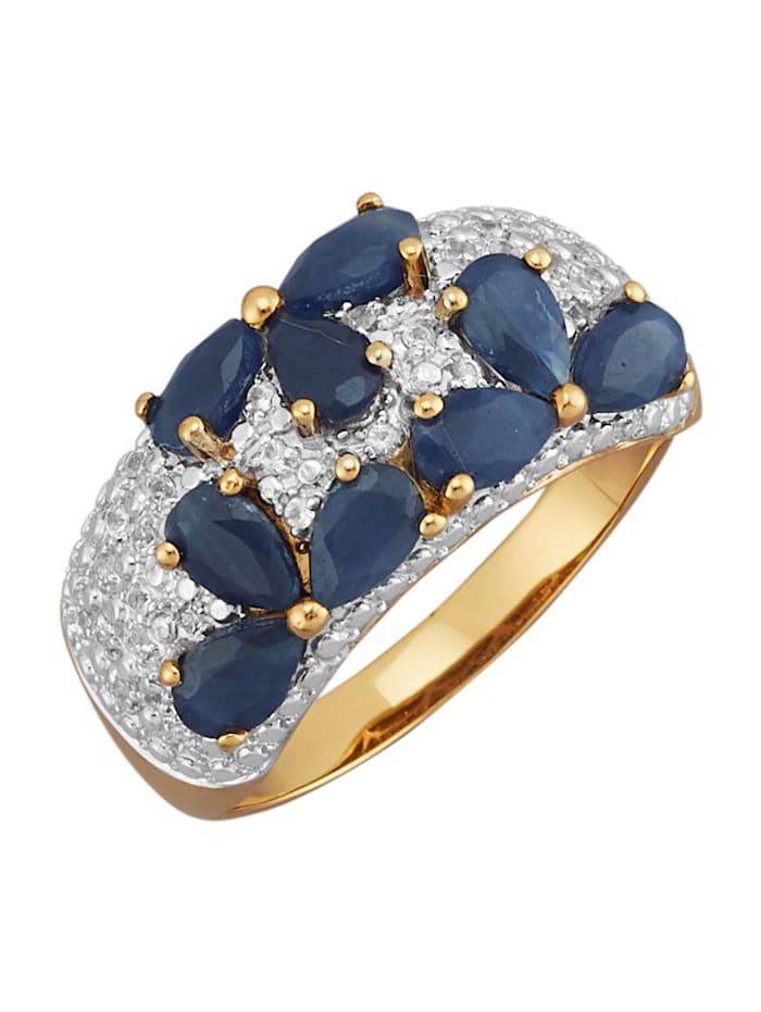 Amara Highlights Bague avec saphirs, Bleu