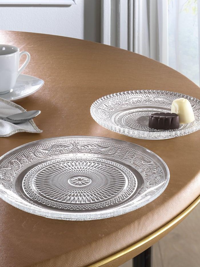 Set van 2 borden Reliëf