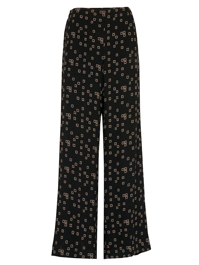 Artigiano Pantalon à lien élastiqué, Noir/Camel