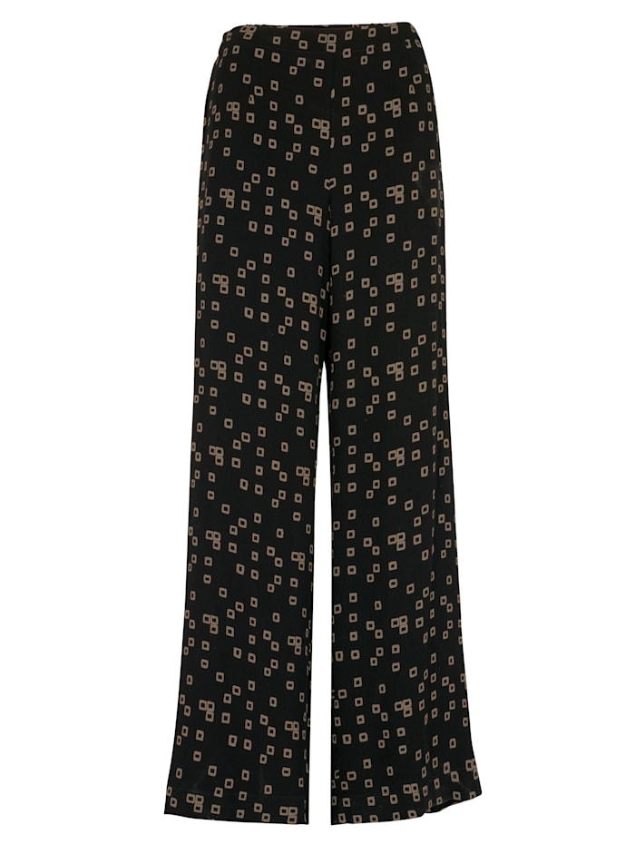 Trousers in a printed pull-on style