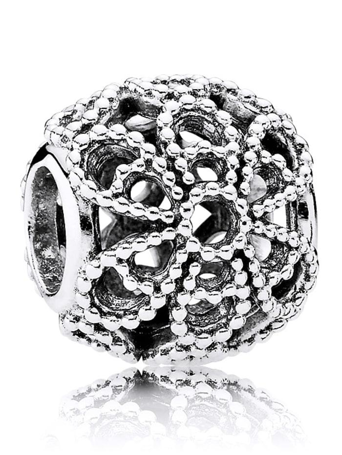 Pandora Charm Rose, Silberfarben