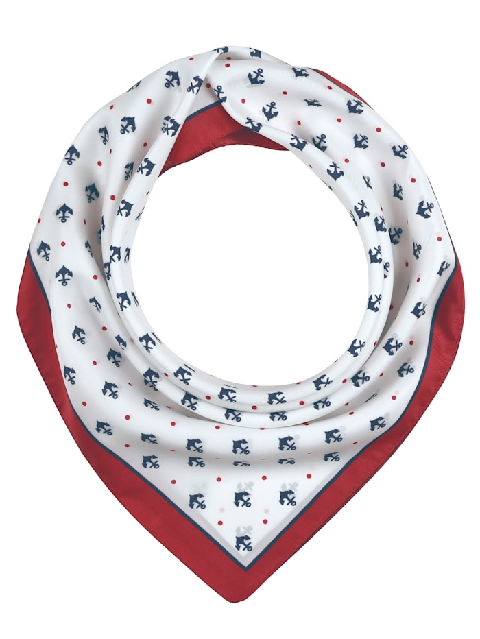 MONA Foulard, Rouge/blanc/marine