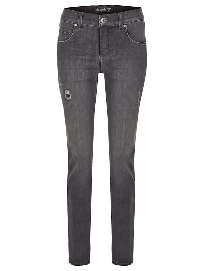 Angels Jeans 'Cici Destroyed Glam' mit modischen Details, grey used buffi crinkle destro