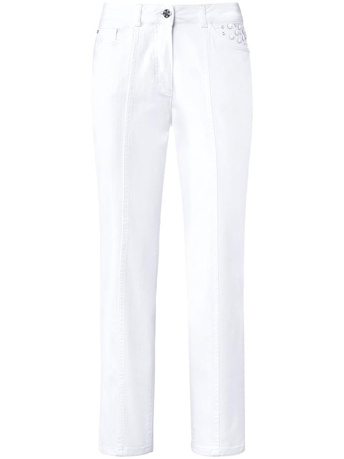 """Basler 5-Pocket-Jeans """"Norma"""" mit Ziersteinchen, bright white"""