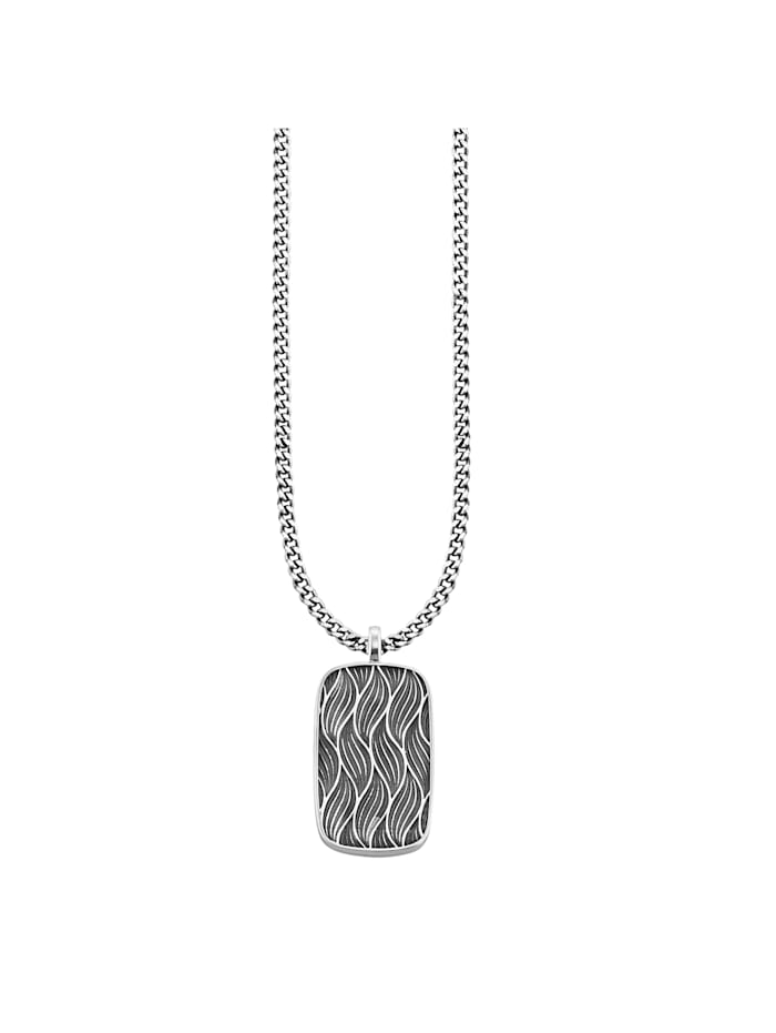 CAI Anhänger mit Kette 925/- Sterling Silber ohne Stein 60cm Geschwärzt, Silbergrau