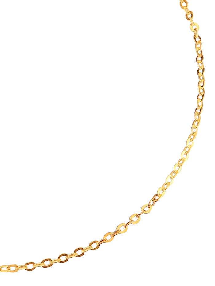 Anchor Chain Necklace, Yellow gold coloured