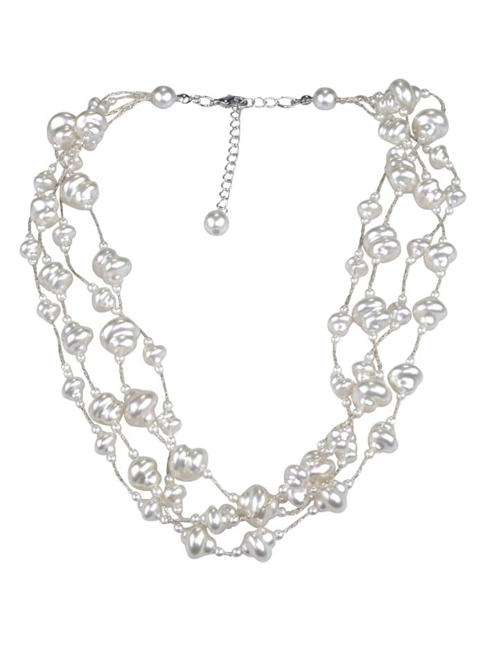 Collezione Alessandro Kurze Kette Cheyney mit vielen Perlen, creme