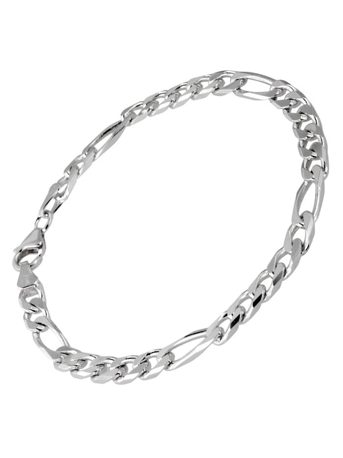 trendor Silber Herren Armband Figaro Breite 5,3 mm, Silberfarben