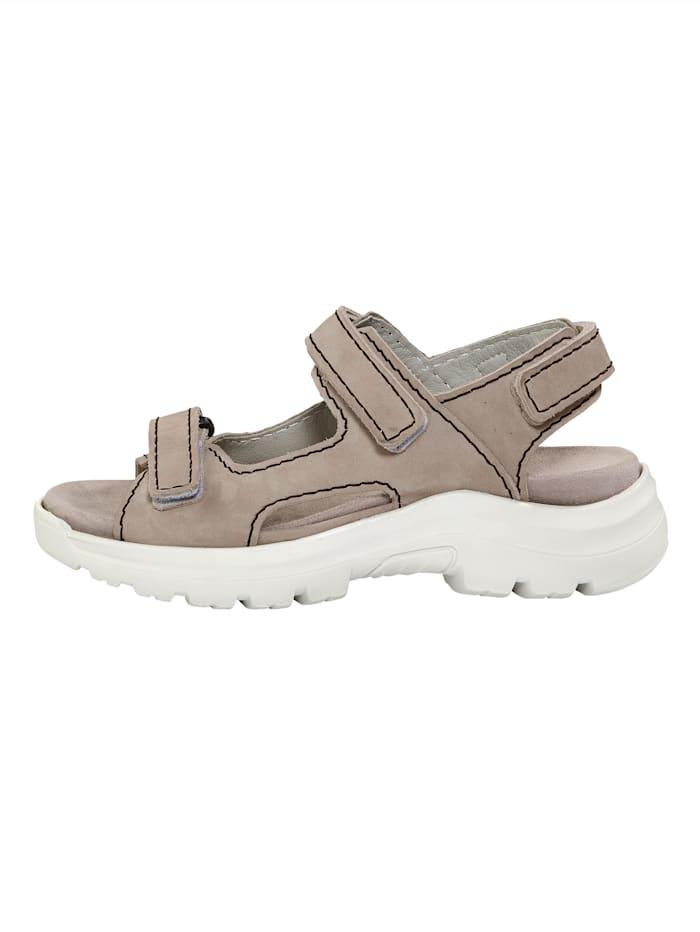 Sandaler med kardborreremmar