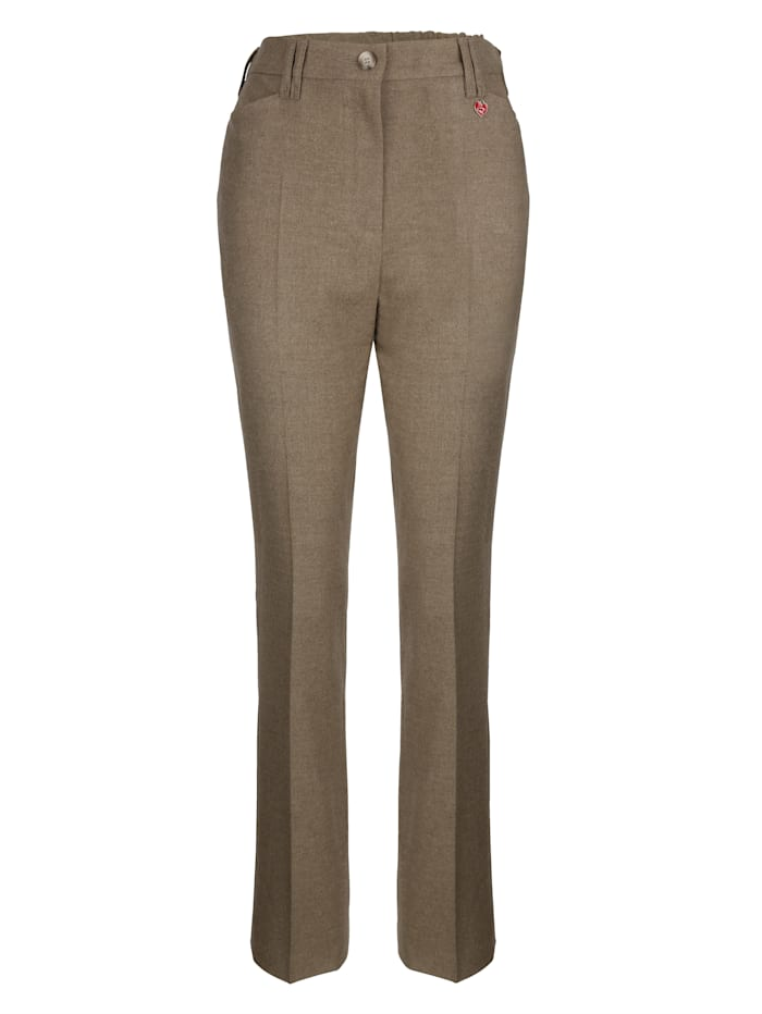 Trousers Zip and button fastening