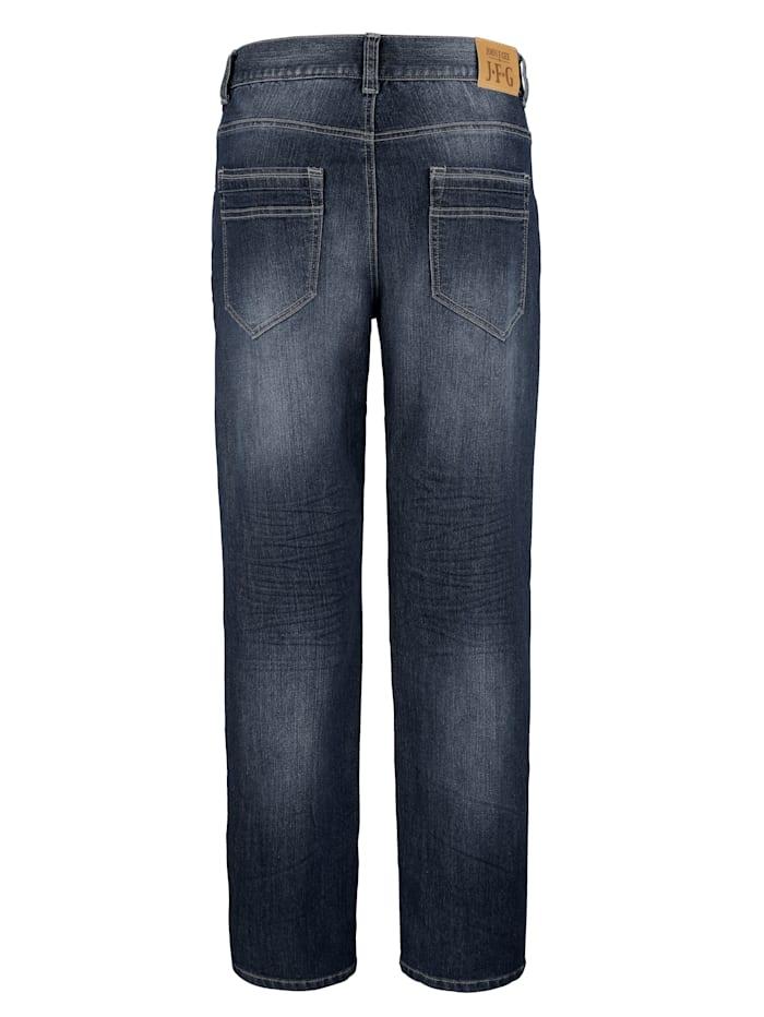 Jeans met ritszakken