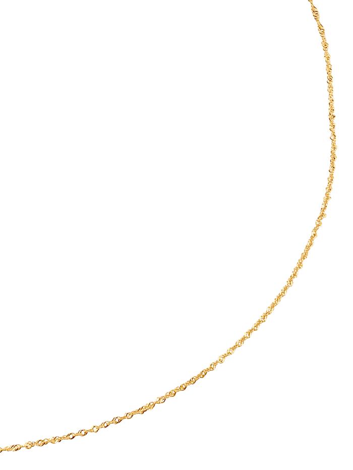 KLiNGEL Singapurkette in Gelbgold, Gelbgoldfarben