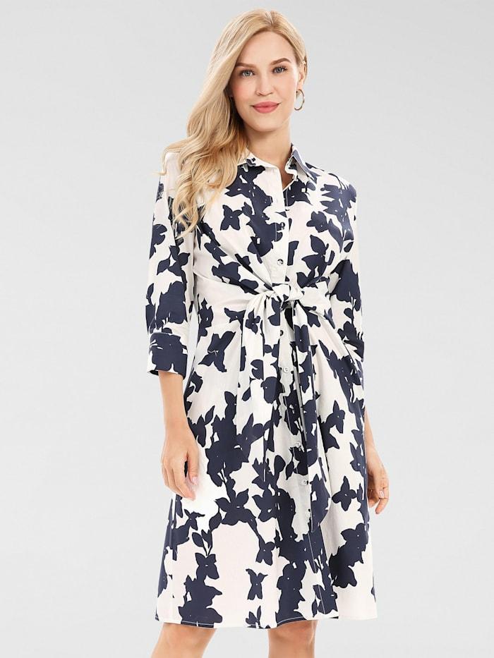 APART Kleid mit Blüten-Print, creme-nachtblau