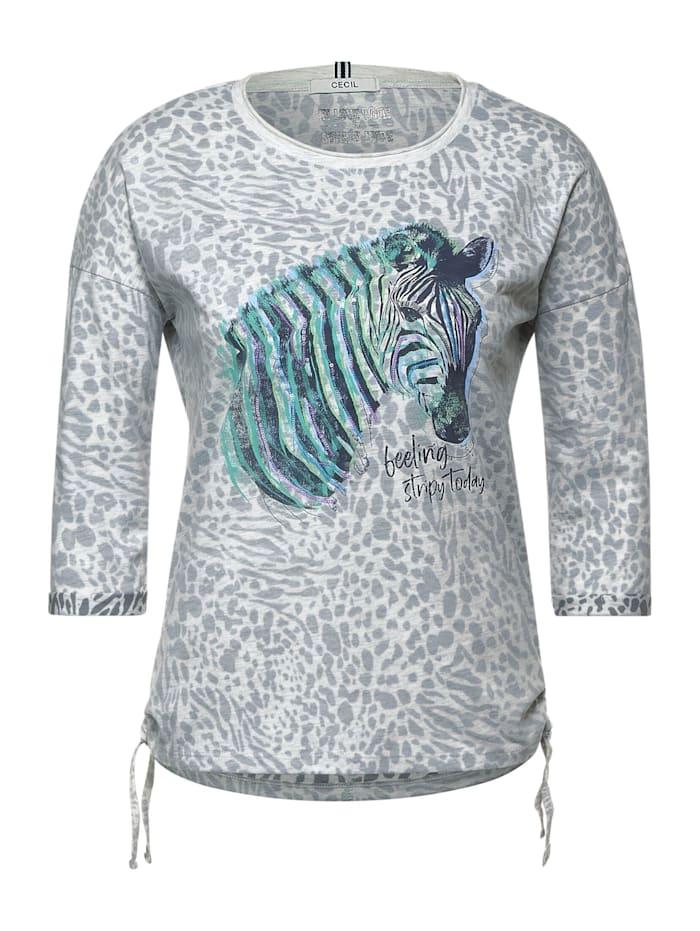 Cecil Shirt mit 3/4 Ärmel, off white melange
