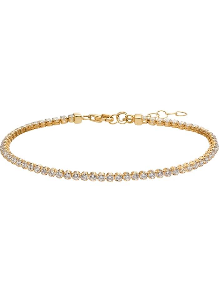 FAVS. FAVS Damen-Armband 375er Gelbgold Zirkonia, gold