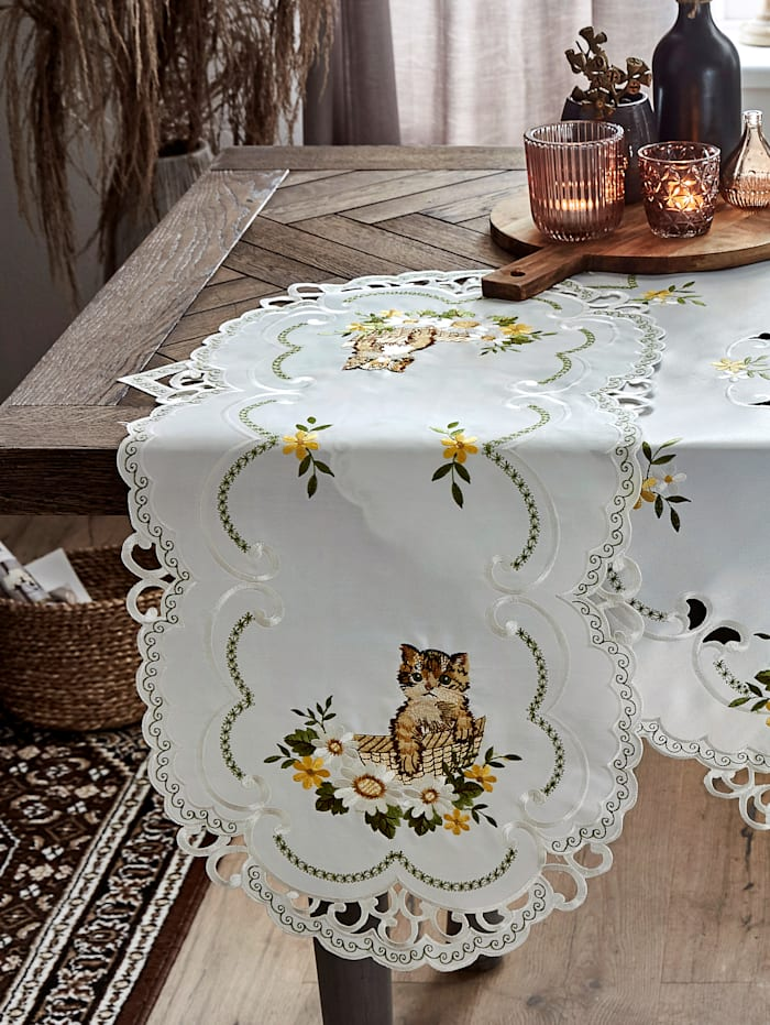 Webschatz Tischwäsche 'Mimi', Creme-Weiß/Multicolor