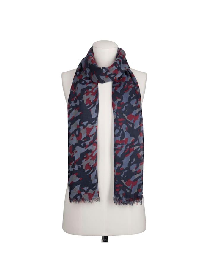 Premium Camou-Schal aus Modal und Kaschmir – Made in Italy