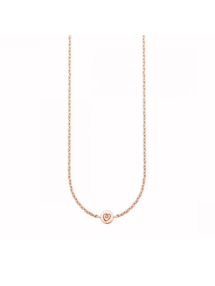 CAI Collier 925/- Sterling Silber 39+4cm Glänzend, rot