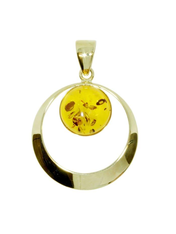 OSTSEE-SCHMUCK Anhänger - Lenka - Gold 333/000 - Bernstein, gelb