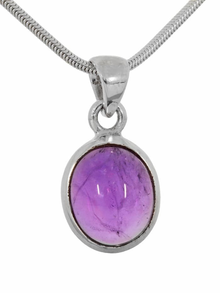 1001 Diamonds Damen Schmuck Edelstein Larimar Anhänger 925 Silber violett, violett