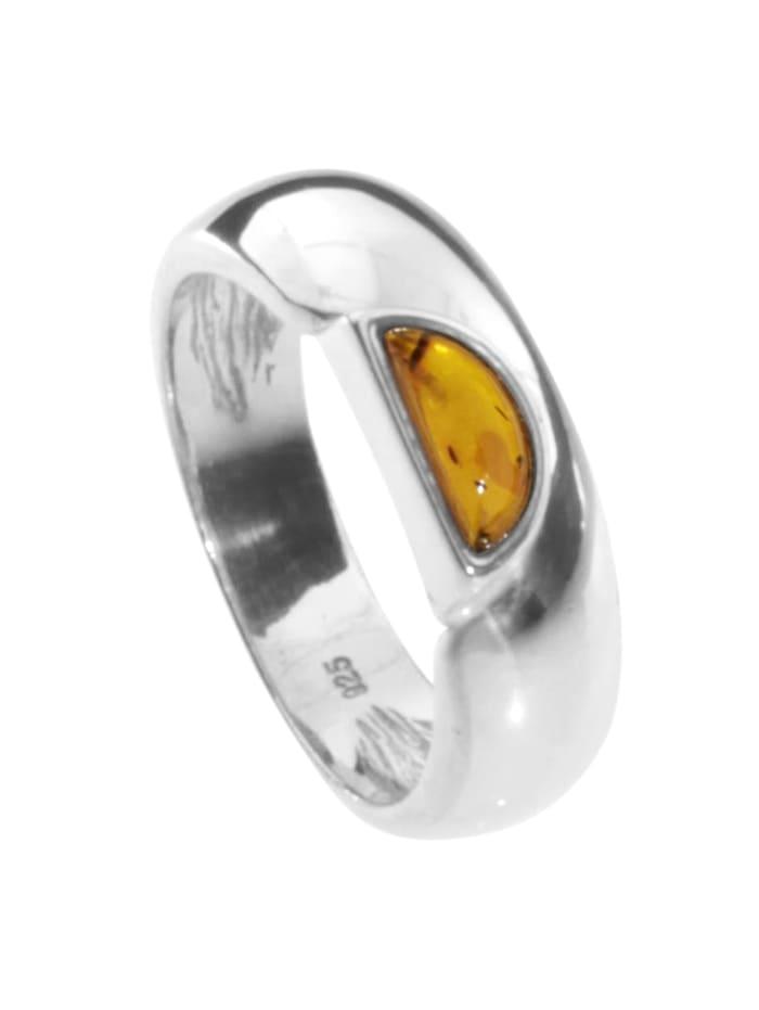 OSTSEE-SCHMUCK Ring Ida-Marie Silber 925/000 Bernstein, silber