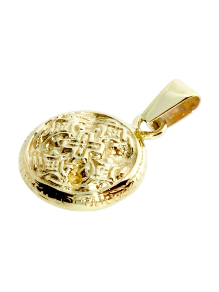 Anhänger - Hiddensee 13 mm rund - Gold 333/000 -