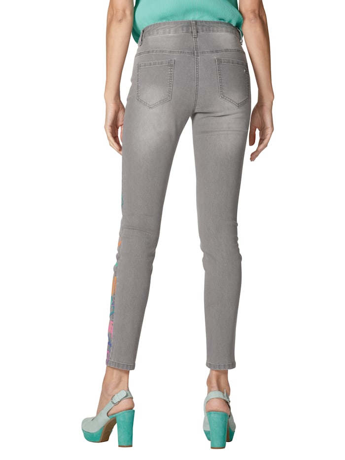 Jeans mit Druck im Vorderteil