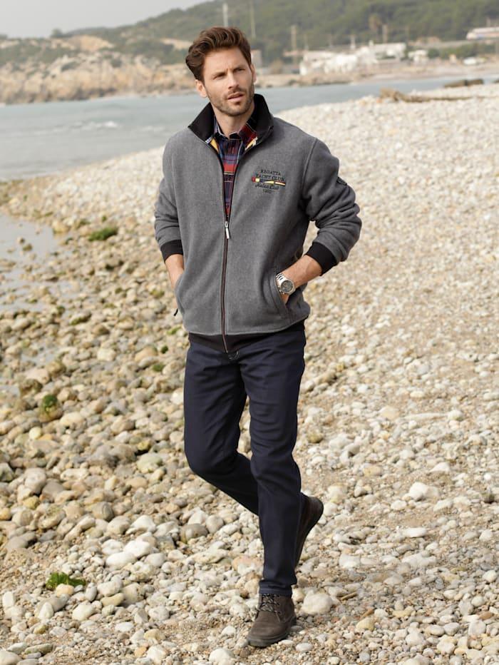BABISTA Fleece vest van superzacht materiaal, Grijs