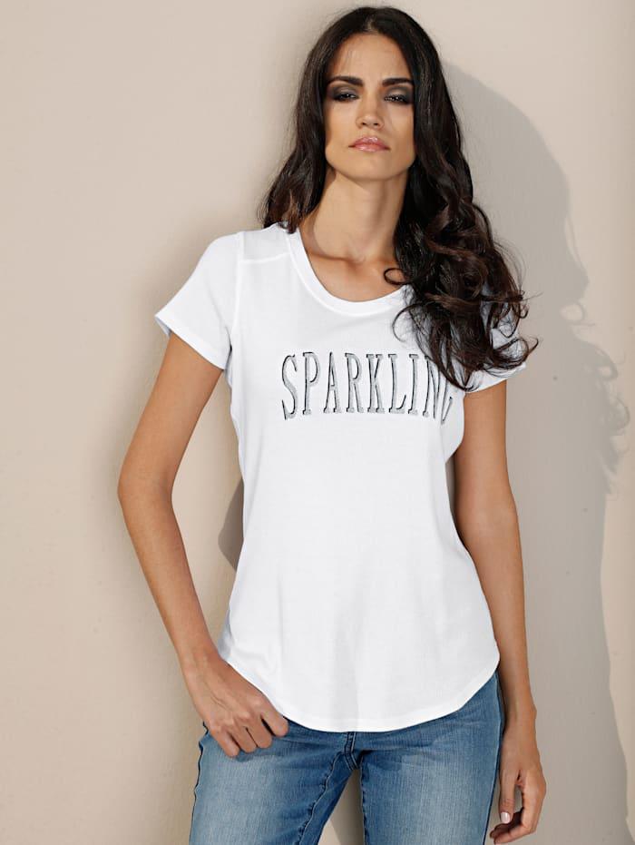 Shirt mit Glitzerdruck