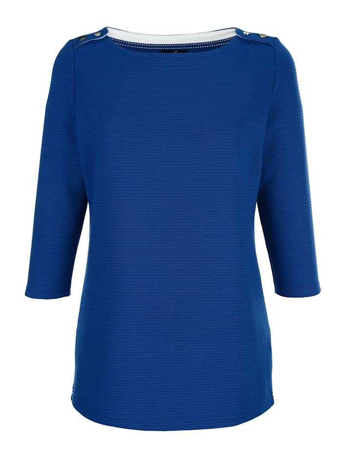 Sweatshirt in strukturierter Ware